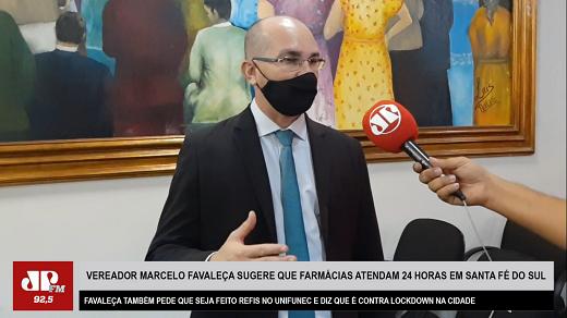 Vereador Marcelo Favaleça sugere Refis no Unifunec e farmácias com atendimento 24h em Santa Fé do Sul